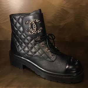 Chanel 20A combat boot